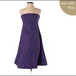 Gap Stretch Purple Strapless Dress NWT